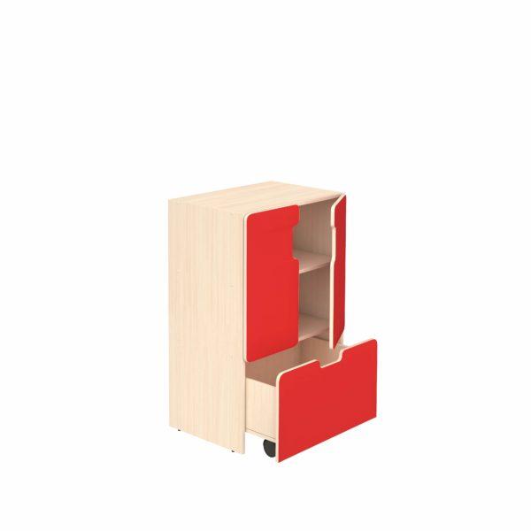 Шкаф для игровых материалов 3- ярусный закрытый
