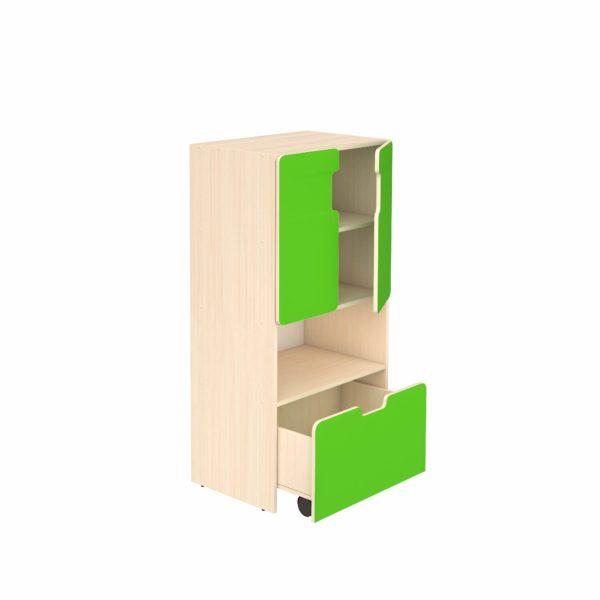 Шкаф для игровых материалов 4- ярусный закрытый с нишей