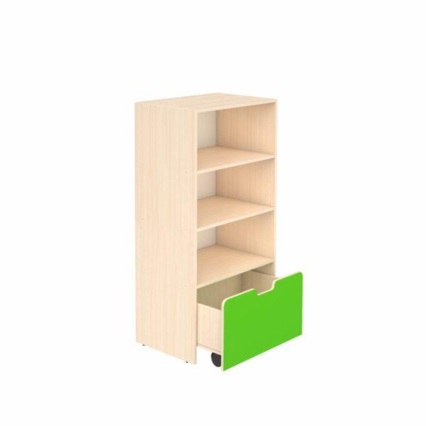 Шкаф для игровых материалов 4- ярусный открытый