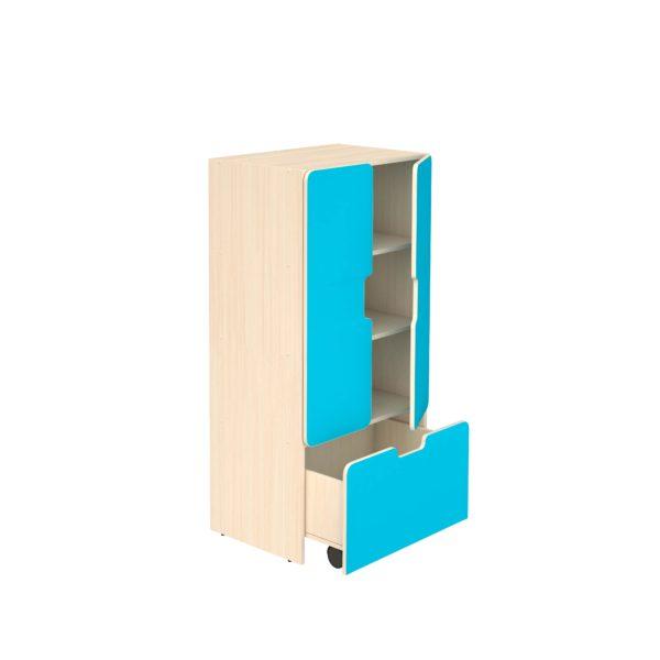 Шкаф для игровых материалов 4- ярусный закрытый