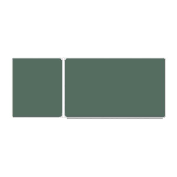 Двухэлементная меловая доска 255х100 см
