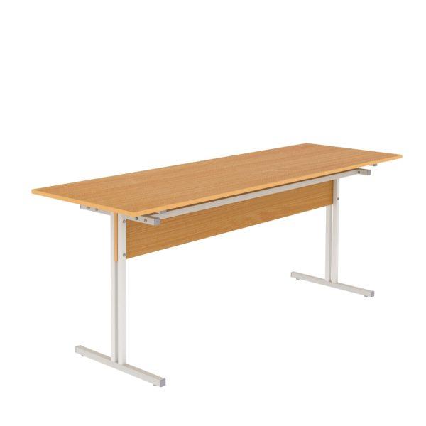Стол обеденный шестиместный с кронштейном для скамеек