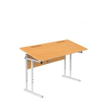 стол ученический двухместный с подъемной