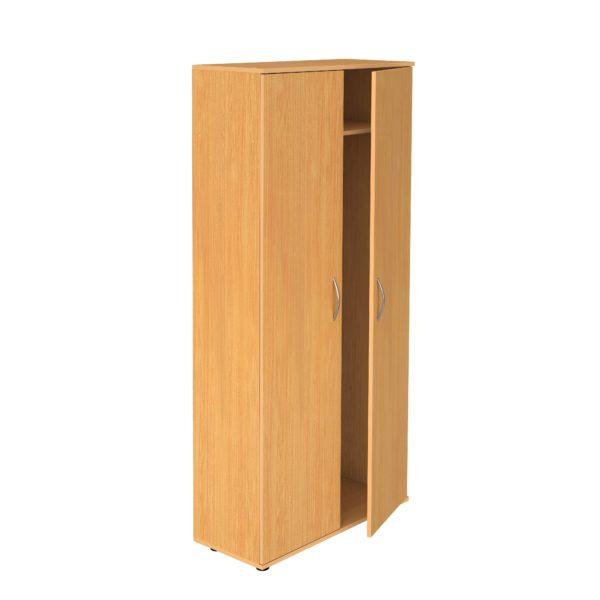 Шкаф закрытый для одежды с выдвижной штангой