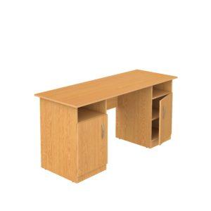письменный стол для учителя с ящиками и полками
