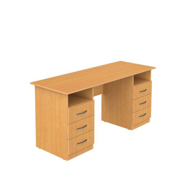 письменный стол с ящиками и полками
