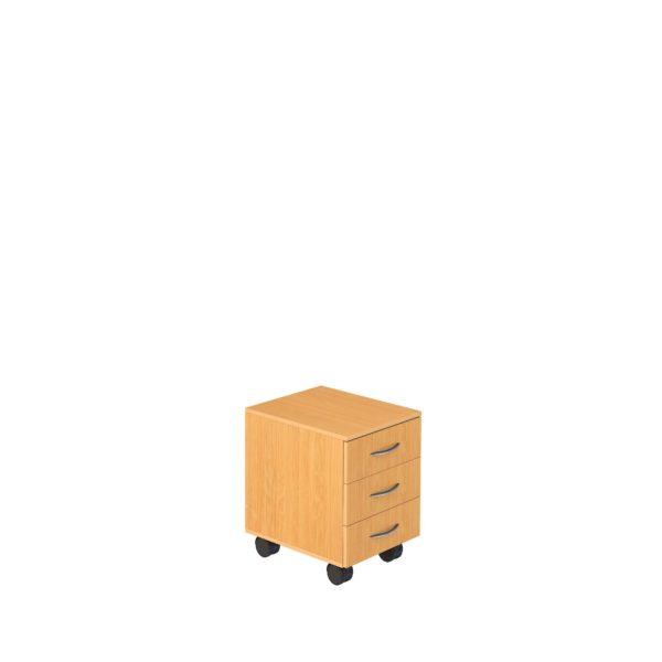 Тумба подкатная с 3-мя ящиками