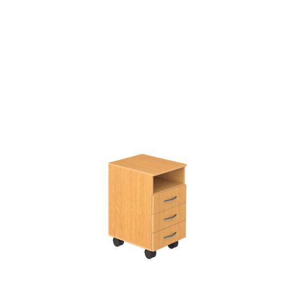 Тумба подкатная с нишей и 3-мя ящиками