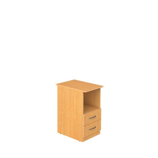 Тумба приставная стационарная с нишей и 2-мя ящиками