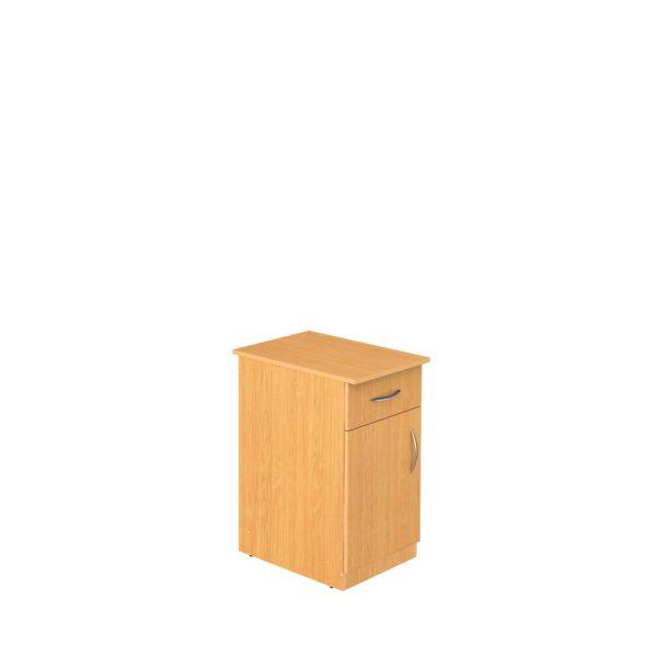 Тумба стационарная с ящиком и дверью