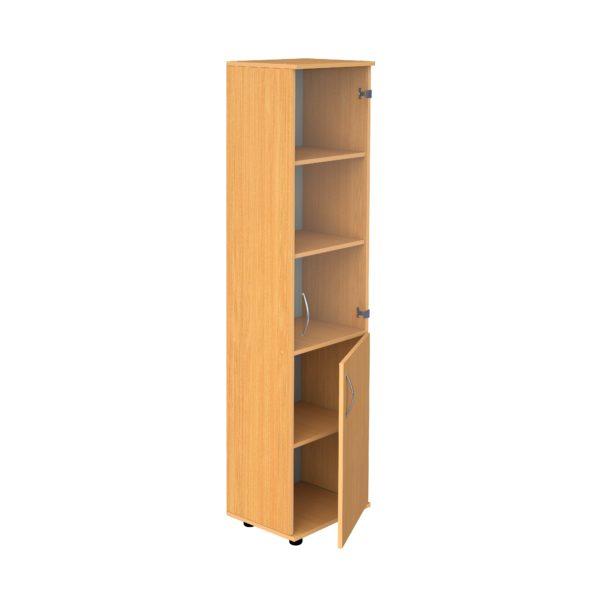 Шкаф для документов узкий застекленный