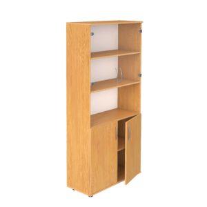 Шкаф для документов со стеклом и нишей