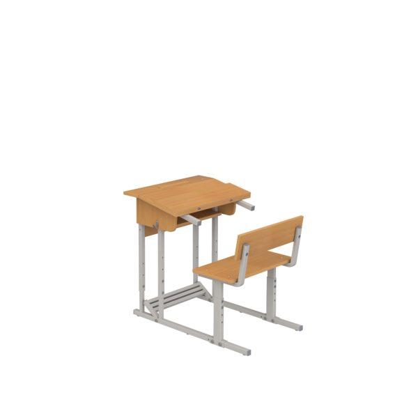 """Школьная парта """"Эрисмана"""", одноместная со скамьей"""