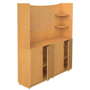 Шкафы секционные модульные для кабинетов