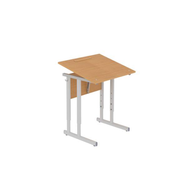 Столы ученические регулируемые одноместные с наклоном крышки 0°-35°
