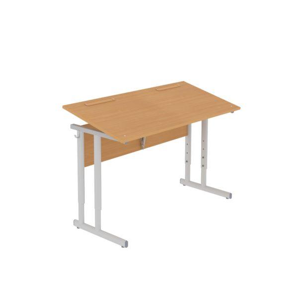 Столы ученические регулируемые двухместные с наклоном крышки 0°-35°