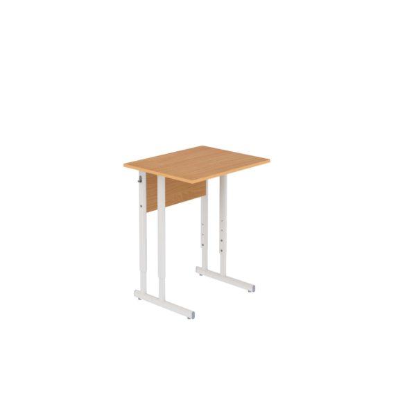 Столы ученические регулируемые одноместные на плоскоовальной трубе